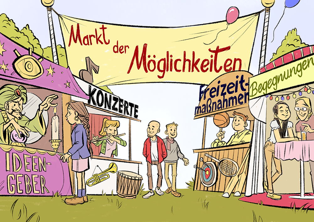 Markt der Möglichkeiten Demokratieförderung Demokratie und Jugend Landesmusikjugend NRW